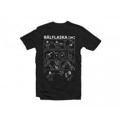"""Kamiseta """"BALFLASKA"""" - Beltza"""