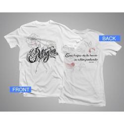 Camiseta Peligro - blanca
