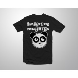 Camiseta Oso Panda - Negra