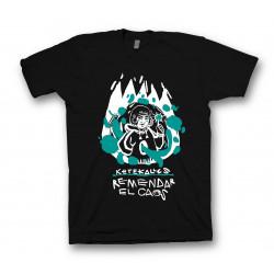 Camiseta Remendar - Negro