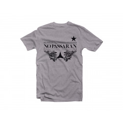Tshirt No Passaran! - grey