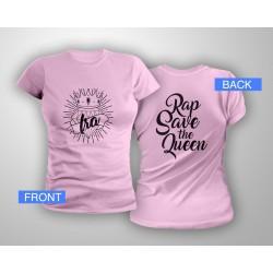 Logo RSTQ fitted tshirt - Pink